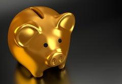 Golden piggybank