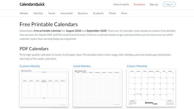 Calendarsquick