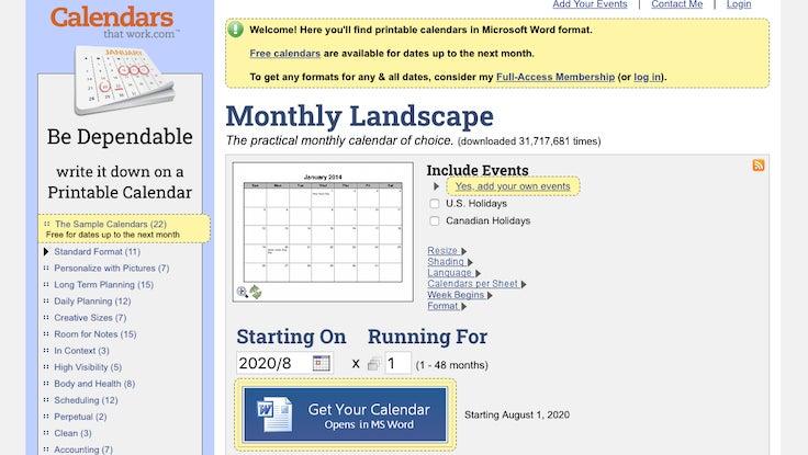 Calendarsthatwork